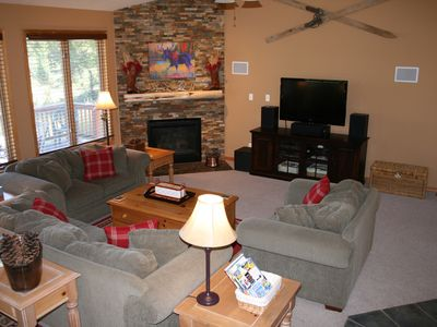 Photo for Newly Remodeled! Spacious mtn home on 2 acres, hot-tub, WiFi, central location