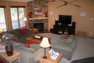 Cozy family room. Perfect for relaxing.