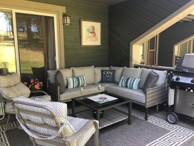 Outdoor living at its best! Barbecue and comfy seating.