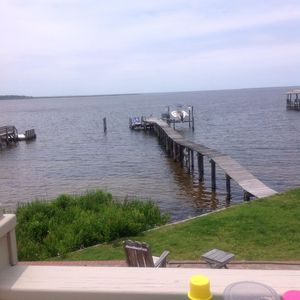 Photo for STUNNING VIEWS! On bay, huge decks, hot tub with views