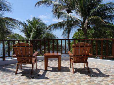 Photo for Oceanfront room with patio in Bed and Breakfast - Near Tulum