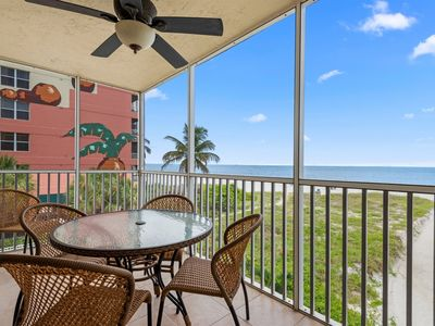 Photo for Double Balcony Beachfront Condo with Screened Lanai, Heated Pool, Great Location!