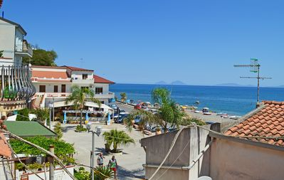 Photo for Cute seaside Aeolian style house 10 mt from the sea in San Gregorio bay