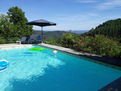 Photo for Beautiful Ardèche 7 pers house with private pool and panoramic views