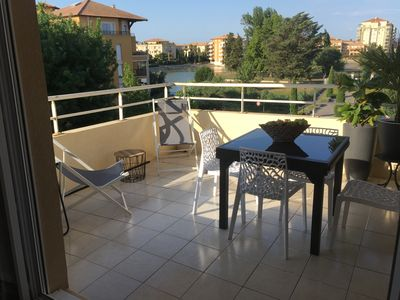 Photo for Nice Apartment, 2 rooms in Port Ariane (Lattes) between Montpellier and Pallavas.