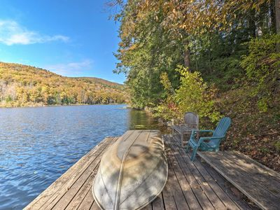 Photo for NEW! Lakefront Berkshires House w/Deck, Dock +Boat