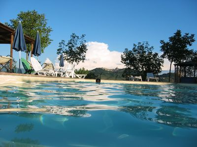 Photo for BELLISSIMO self catering apartment in villa with pool,families welcome