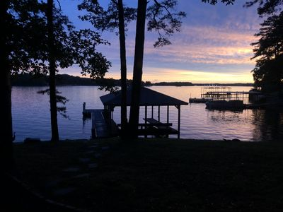 Photo for Beautiful lake front house with dock and pier!