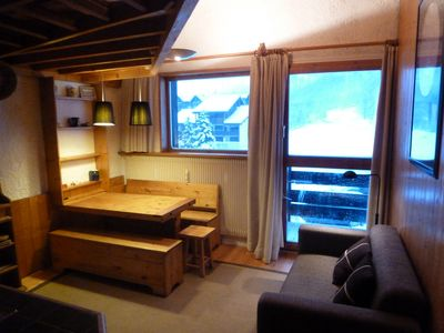 Photo for DUPLEX APARTMENT, THE SLOPES AND ALONG THE OLD VILLAGE