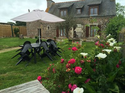 Photo for Country house in a quiet, enclosed garden, beach & GR34 at 800m, near Brehat