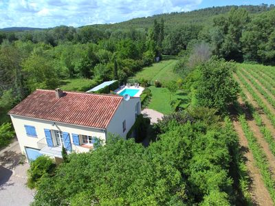 Photo for Nice country house Longo Maï with swimming pool and private canoes on the river