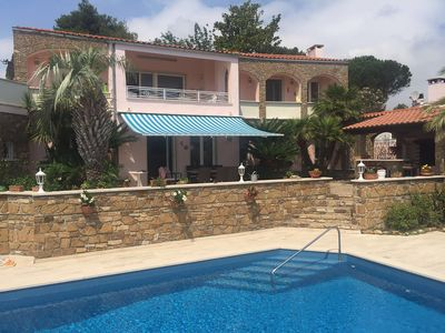 Photo for Luxurious property with private pool, BBQ and stunning sea views