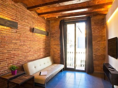 Photo for Apartment 410 m from the center of Barcelona with Internet, Air conditioning, Lift, Balcony (443058)