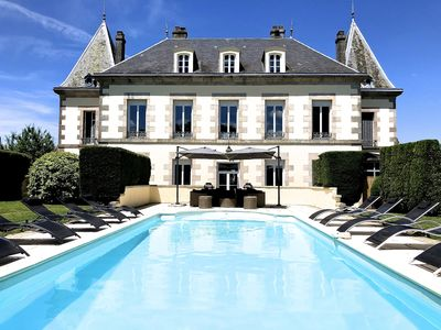 Photo for WE ARE NOW TAKING BOOKINGS FOR 2020 Eight Bedroom Chateau with heated Pool