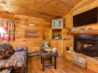 Photo for NEW LISTING! Quaint cabin w/ deck, fireplace & shared game room/screened porch