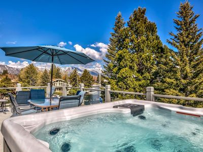 Photo for Waterfront Vista - Rooftop Hot Tub, Private Boat Dock, AC, Decks Galore!