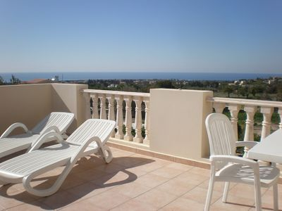 Guests have said the apartment balcony is 'huge' and the view is 'fantastic'