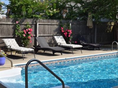Photo for Beautiful Bay Head Spring/Summer Getaway with Private Pool one block from Ocean