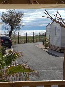 Photo for Mobile home sea view and feet in the water