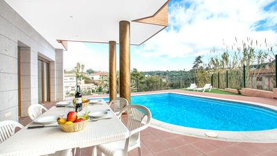 Photo for 4 bedroom Villa, sleeps 8 with Pool, Air Con, WiFi and Walk to Beach & Shops