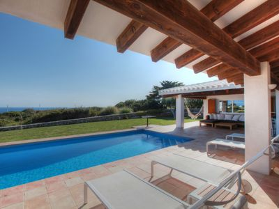 Photo for Villa with pool and sea views, Binidalí, Menorca