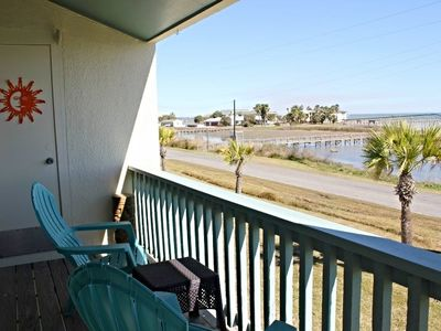 Photo for Million dollar views and bay breezes from the balcony of this Rockport Racquet and Yacht Club condo