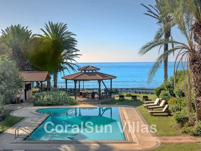 Photo for SEA FRONT Amazing Villa with Large Pool & Extensive Garden - 6 bedrm - Sleeps 14