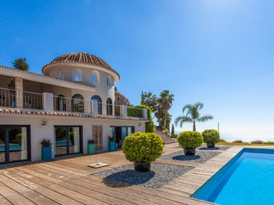 Photo for Luxury Villa with Great Pool, Sea Views & Own Little Private Mountain