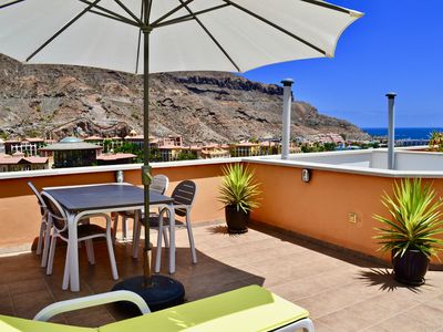 Photo for Modern apartment with Private roof terrace with seaview