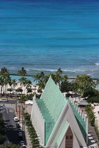 Photo for High Rise Deluxe Ocean View Free Parking/Wifi in Waikiki - 1 block to Beach!