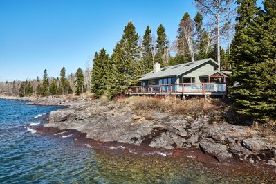 Untouched Lake Superior beauty awaits at this Schroeder vacation rental cabin.