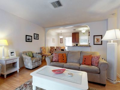 Photo for Pair of duplexes w/ private pool & sunroom - two blocks from the beach!