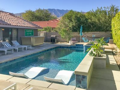 Photo for Colorful, Pop Art Palm Springs Home with a Flawless Swimming Pool