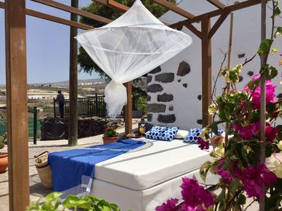 Photo for Casita Roque, Canarian house with dream view, inside very modern, Wifi, SAT-TV