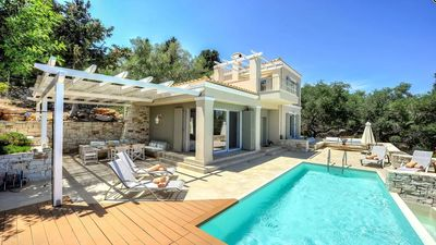 Photo for Villa Gaios is a wonderful two bedroom villa with full AC and wifi offering stunning seaviews and ju