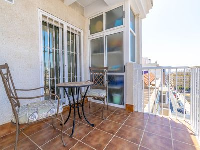 Photo for Beautiful penthouse with a huge terrace and sea views in the center of the city!