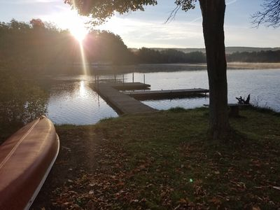 Private dock with canoe and kayak available for your use