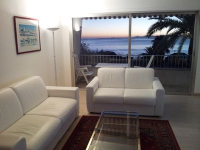 Photo for Holiday rental classified 4**** with closed parking, sea view and pool in Nice