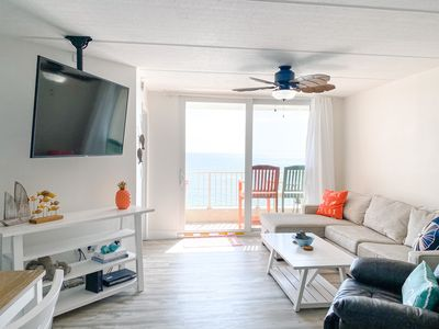 Photo for ***NEWLY RENOVATED*** Direct Oceanfront Beach Condo on No-Drive Beach