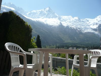 Photo for T2 apartment superb view Mont Blanc