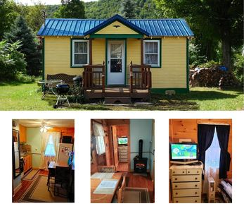 Photo for Catskill Bungalow - Tiny House Vacation for couples, Windham & Hunter NY, skiing
