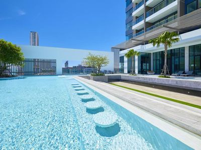Photo for ⭐ Dream Home ⭐ Infinity Pool ⭐ Luxury Fac. @ AERAS - Muang Pattaya