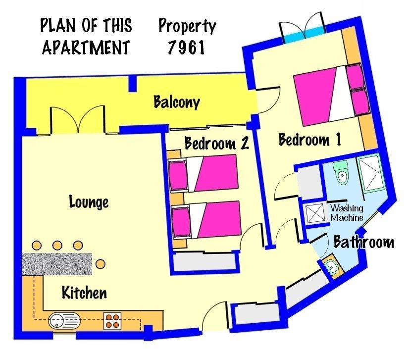 adeje apartment rental plan of this apartment - Luxury Penthouse Floor Plans