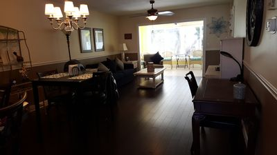 Living/dining room from entry hallway.