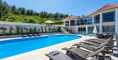 Photo for 4 bdrms, bay-front location, views of the Adriatic Sea, pool