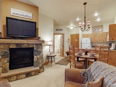 Photo for Walk to the gondola from this condo with shared pool & hot tub access