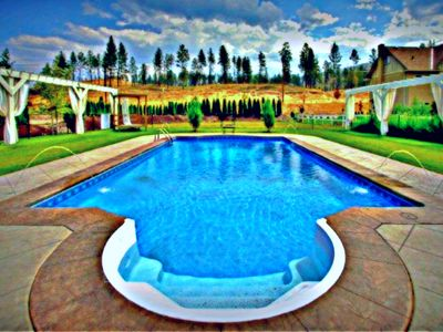 Photo for Private Home With Luxury Saltwater Pool Near Summerhill & CedarCreek Vineyards