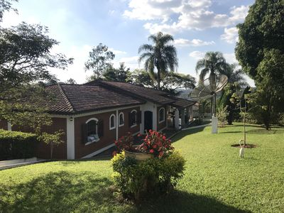 Photo for Farm with ample leisure, 4 suites for up to 20 people. Contact: 11-99432-0475