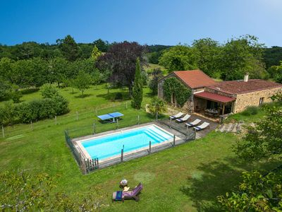 Photo for 3 bedroom Villa, sleeps 8 in La Borie Blanche with Pool and WiFi