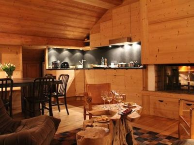Photo for Rare, in the heart of Megève, flat full of charm in a traditional chalet
